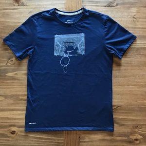 Navy blue Nike basketball graphic t-shirt Sz. M
